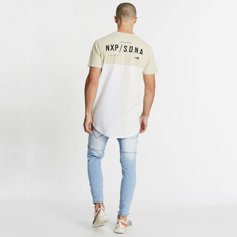 Unbound Freedom Cape Back T-Shirt Sand/Off White/White