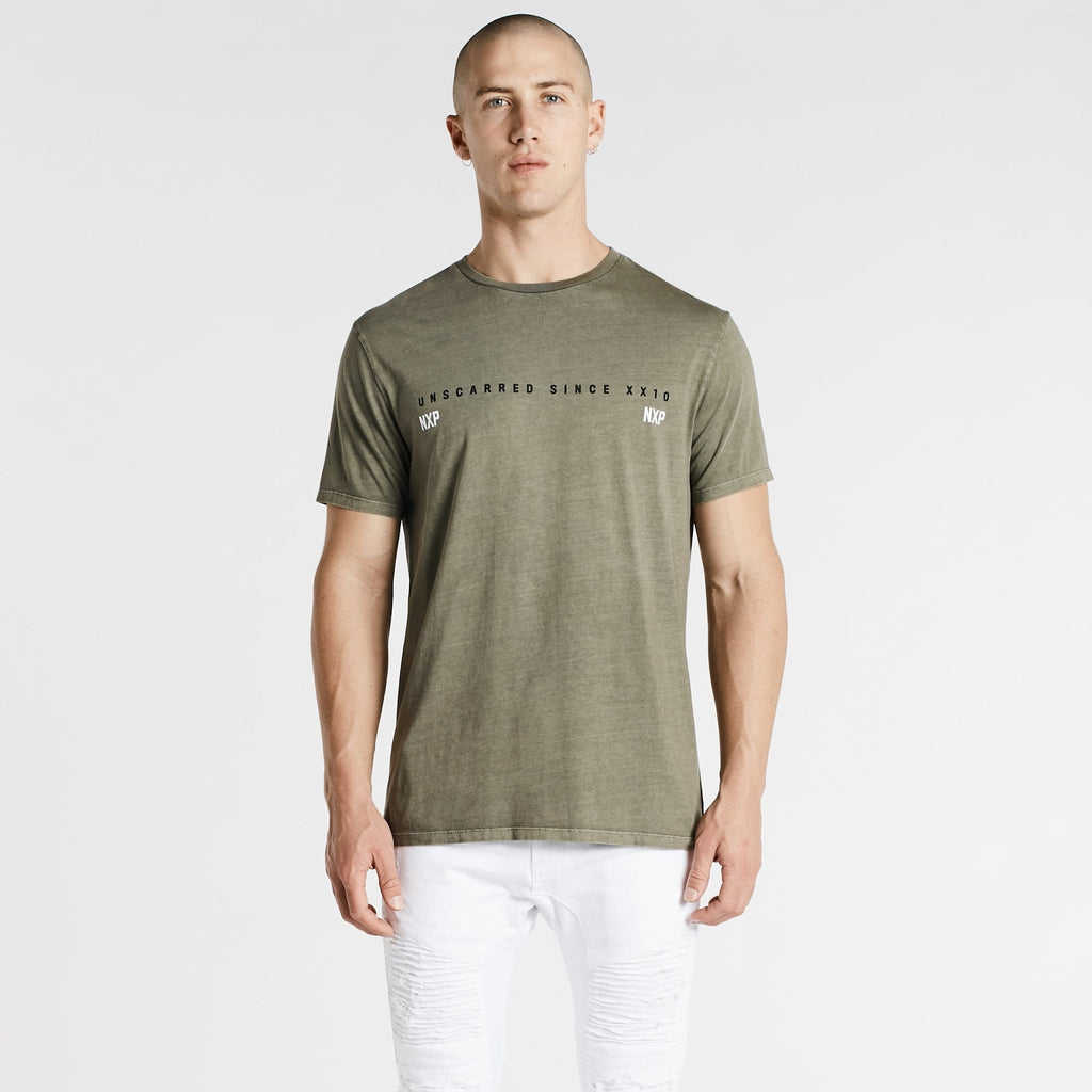 Unscarred Cape Back T-Shirt Pigment Khaki