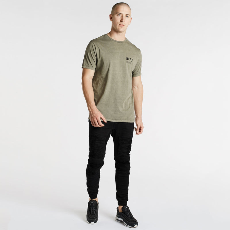 Vision Scoop Back T-Shirt Pigment Khaki