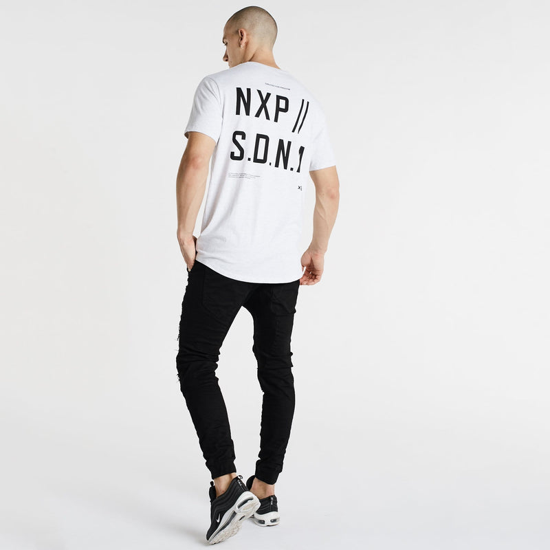 Vision Scoop Back T-Shirt Snow Marle