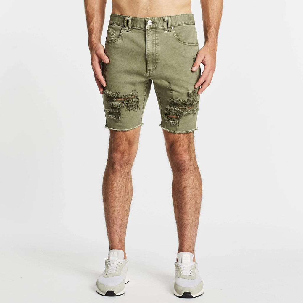 Warrior Casual Short Destroyed Khaki