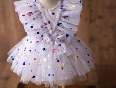 Confetti Dress & Diaper Cover
