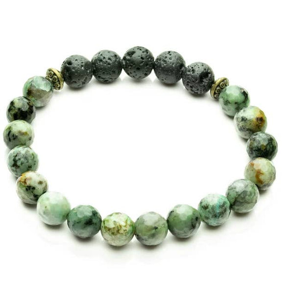 African Turquoise Aromatherapy Essential Oil Diffuser Bracelet