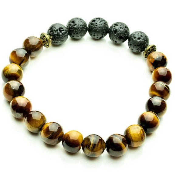 Tiger Eye Aromatherapy Essential Oil Diffuser Bracelet