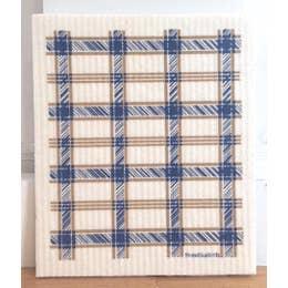Blue Plaid Swedish Dishcloth - Rock Creek Soaps