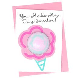 You Make My Day Sweeter Bath Fizzy Greeting Card - Rock Creek Soaps