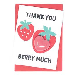 Thank You Berry Much Bath Card - Rock Creek Soaps
