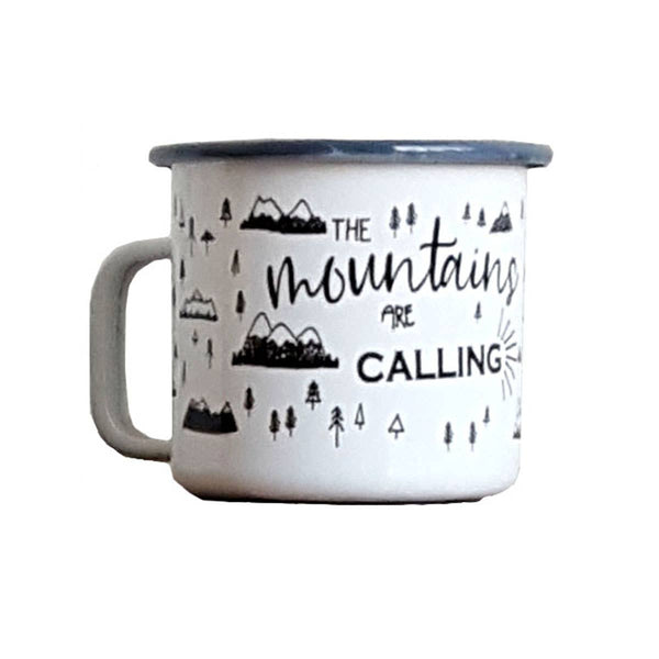 Mountains are Calling Enamel Mug