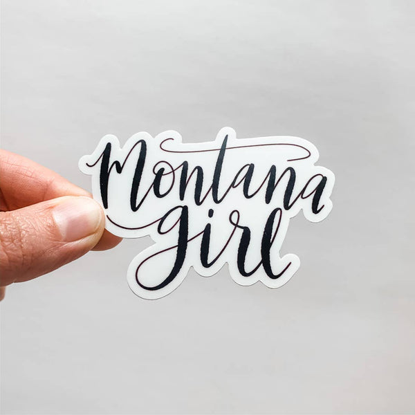 Montana Girl Sticker | Black
