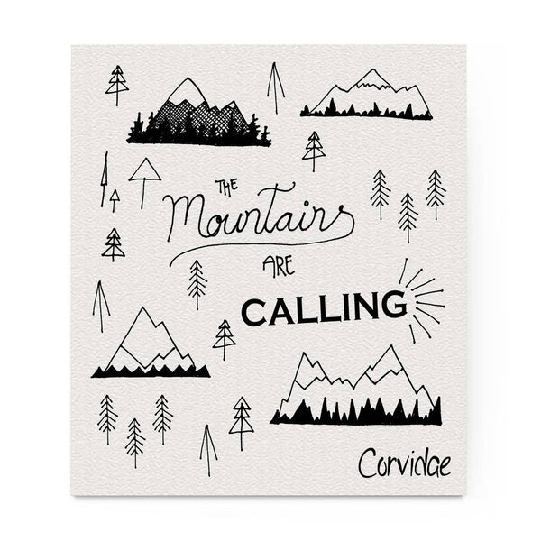 Mountains are Calling Swedish Dishcloth