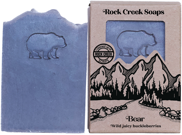 <i>Bear </i></p>Wild Sweet Huckleberries - Rock Creek Soaps