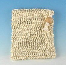 Drawstring Soap Pouch Cambric Fiber with Bead