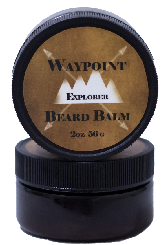 <i>Explorer Beard Balm</i></p>Warm Spicy Cardamom & Teakwood with Amber, Sandalwood & Cedar - Rock Creek Soaps