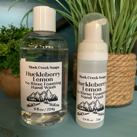 No Rinse Foaming Hand Wash | Huckleberry Lemon - Rock Creek Soaps