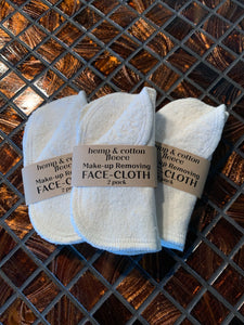 Make-Up Removing Face Cloth 2pk - Rock Creek Soaps