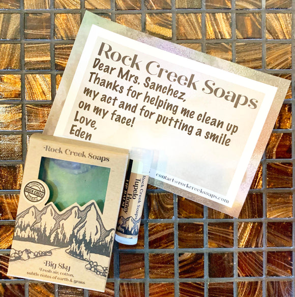Teacher Appreciation Gifts | Soap + Lip Balm - Rock Creek Soaps
