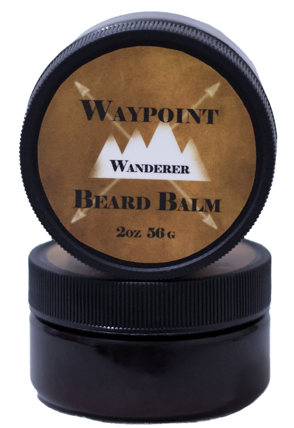 <i>Wanderer Beard Balm</i></p>Rustic Black Amber & Lavender with Vanilla & Musk - Rock Creek Soaps