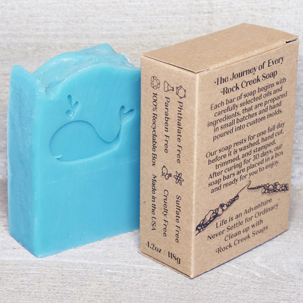 WHALE SOAP | Ocean air & coconut - Rock Creek Soaps