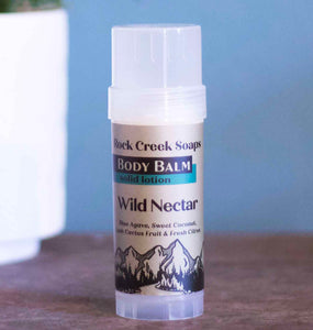 WILD NECTAR BODY BALM | Solid Lotion Bar in Blue Agave, Coconut, Lush Cactus & Fresh Citrus - Rock Creek Soaps