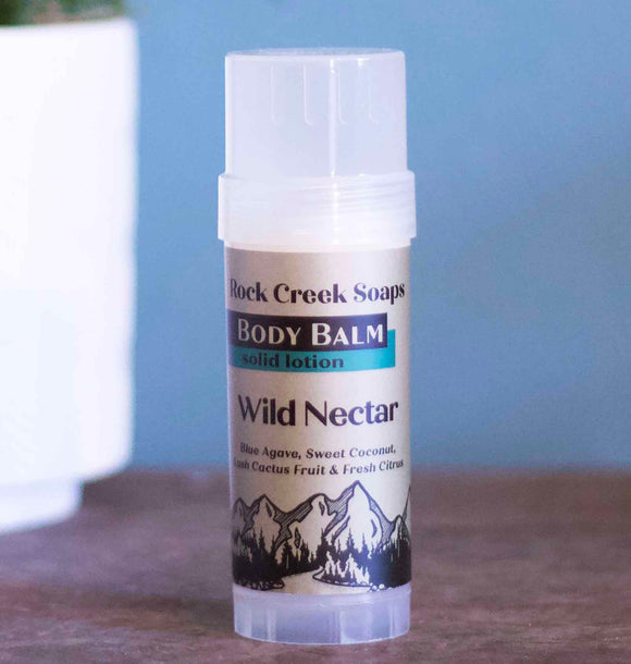 WILD NECTAR BODY BALM | Solid Lotion Bar in Blue Agave, Coconut, Lush Cactus & Fresh Citrus