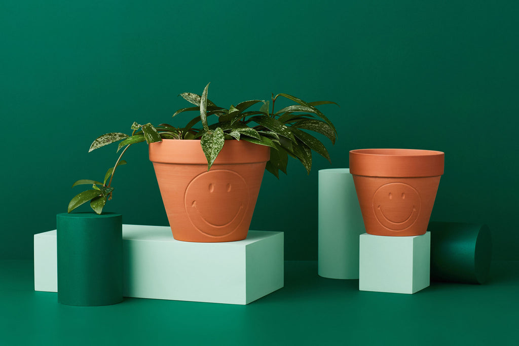 SERAX SMILEY TERRACOTTA PLANT POTS