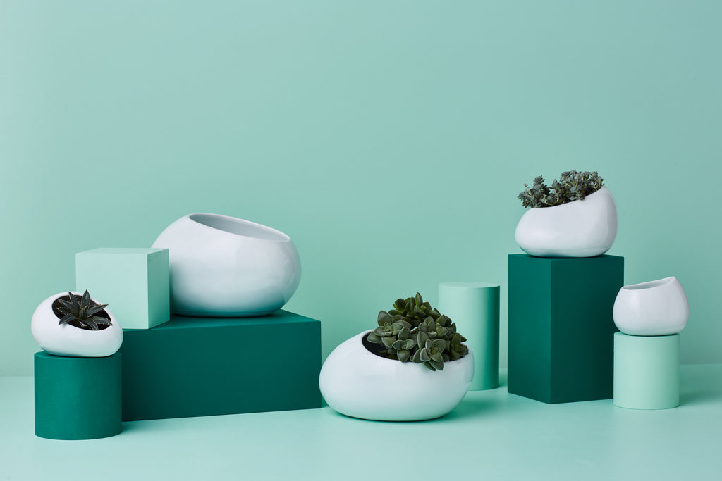 PEBBLE SHAPED PLANTERS