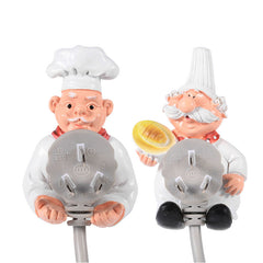 Cartoon Chef Power Plug Wall Organizer