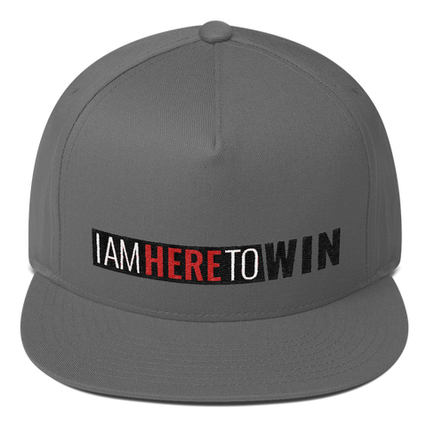I Am Here To Win Flat Bill Cap