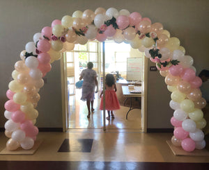 Double Door Entrance Arch with Silk Flowers
