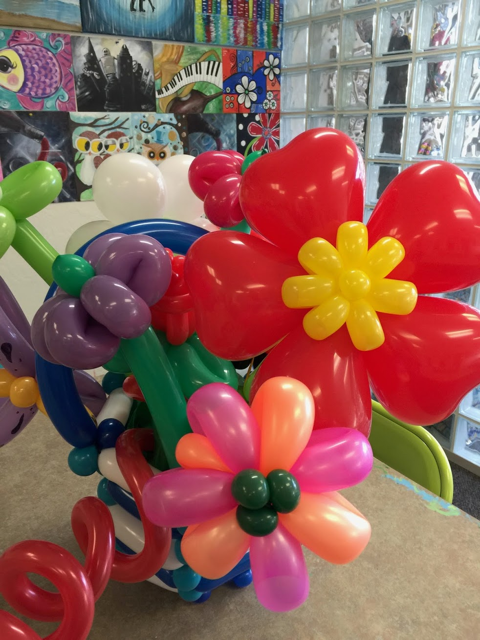 Basket Of Balloon Flowers