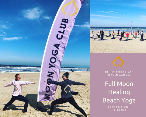 full moon healing beach yoga