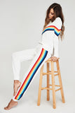 Madeleine Thompson Rainbow Athletic Pants White