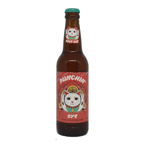 Rye & Pint Punchin Rye 330 ml bottle front pale ale