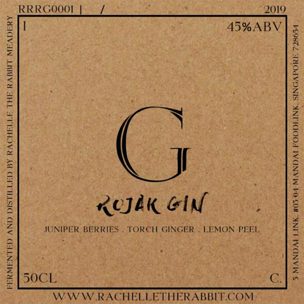 Rachelle the Rabbit Compendium Spirits Rojak Gin 500ml Cheapest in Singapore with free delivery