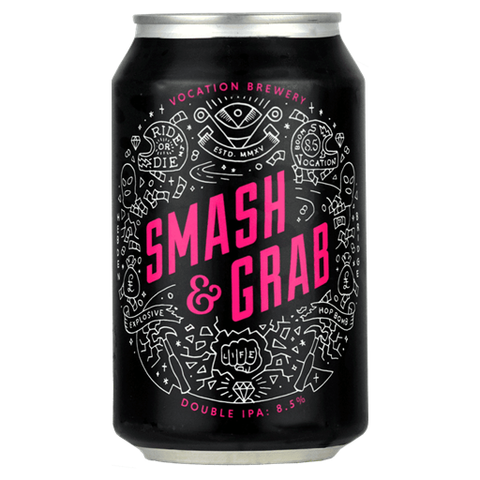 Vocation Brewery Smash & Grab Double IPA 330ml Can