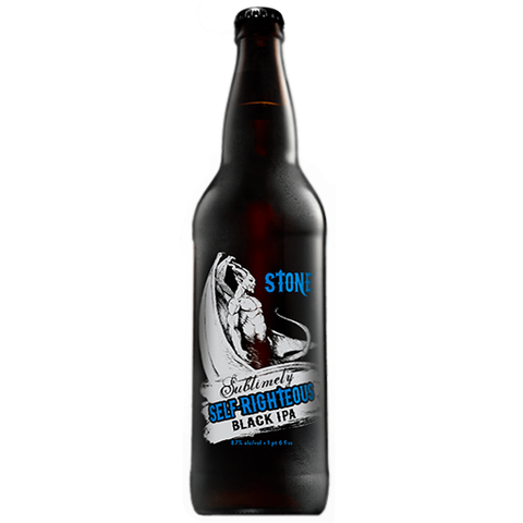 Stone Sublimely Self Righteous (35.5 CL) Double Black IPA 8.7%	ABV