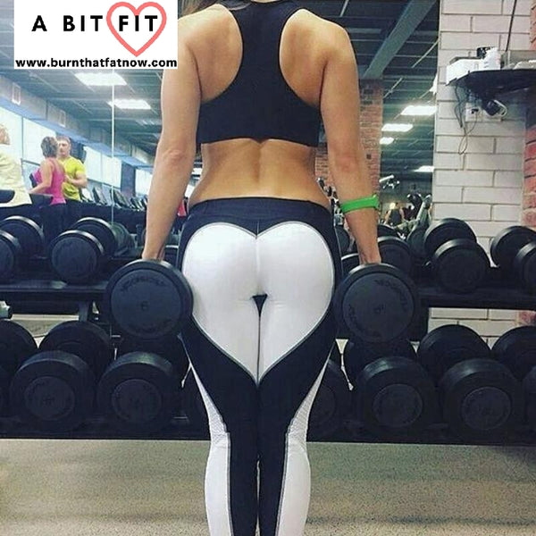 Heart Shape Yoga Leggings Running Fitness Weightlifting