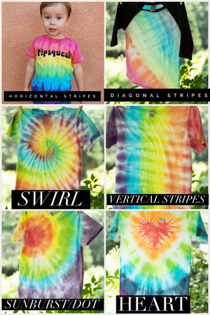 tie dye kids tees (infant, toddler and youth)