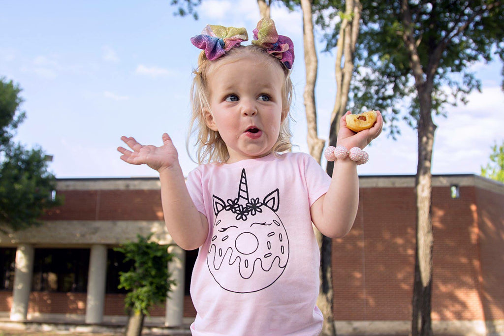 donut unicorn short sleeve tee