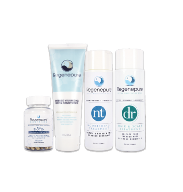 Regenepure Complete System without Minoxidil (DR + NT + Biotin Conditioner +Supplement)