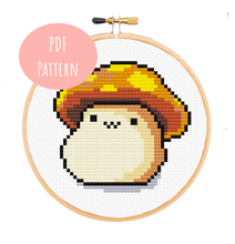 Maplestory Orange Mushroom Cross Stitch - PDF Instructions