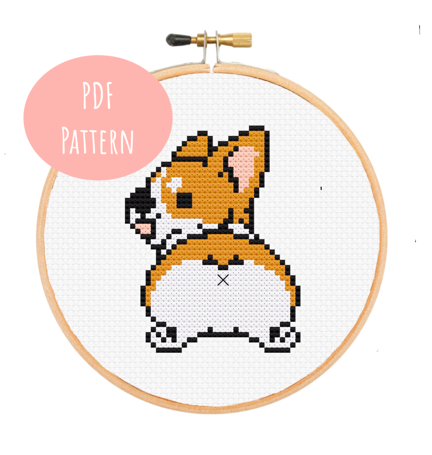 Corgi Butt Cross Stitch - PDF Instructions