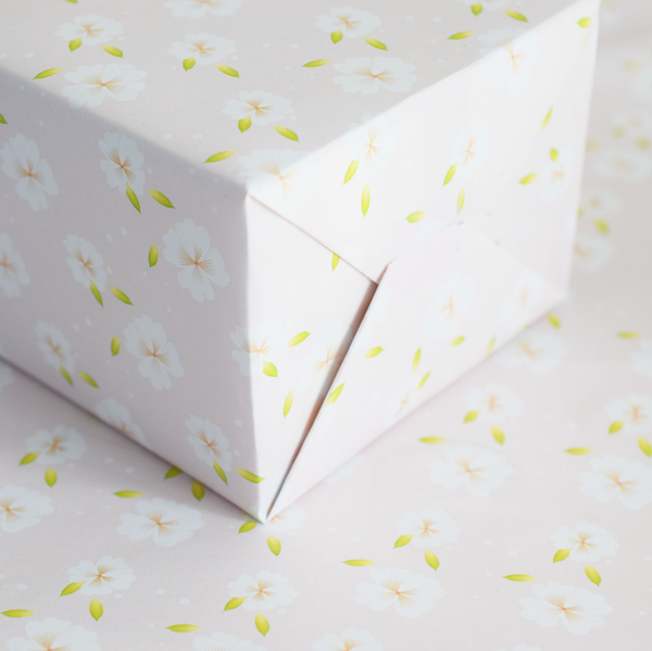 Pink Buttercups Wrapping Paper - 3 Sheets
