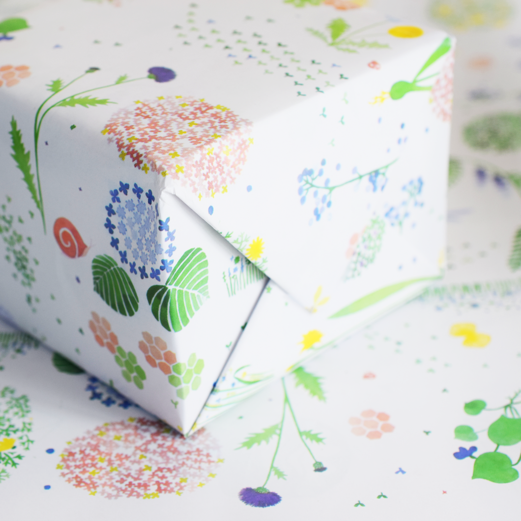 Summertime Fields Wrapping Paper - 3 Sheets
