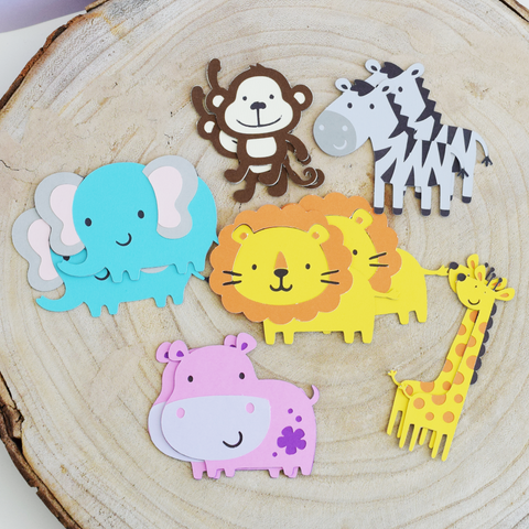 Safari Animal Die Cuts - Set of 12