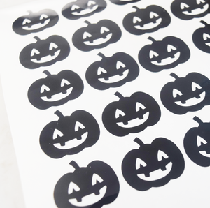 Pumpkin Vinyl Stickers - 2 Sheets of 20