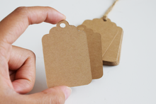 Kraft Paper Gift Tags - Set of 50