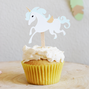 Pastel Pegasus Cupcake Toppers - Set of 12