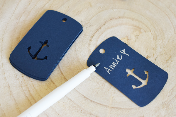Nautical Anchor Favor Tags - Set of 24