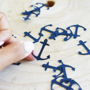 Navy Anchor Table Confetti